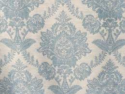 teal blue damask curtain fabric by the yard upholstery fabric