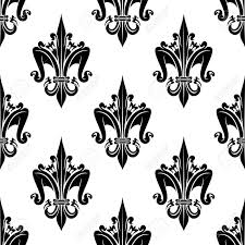 what is floral pattern in french black and white seamless french heraldic decorative floral pattern