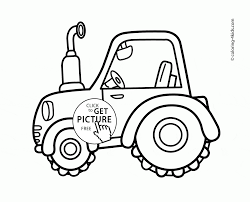 cute tractor coloring page for toddlers transportation coloring