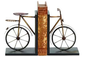 metal bicycle bookends living spaces