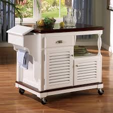 shop kitchen islands shop coaster fine furniture white farmhouse kitchen island at