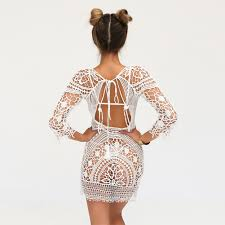 2017 new women lace beach dress cover up summer bathing
