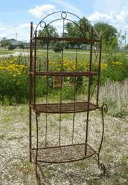 Patio Bakers Rack A Rustic Garden Enhance Your Patio U0027s Decor