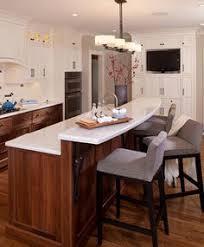 kitchen island breakfast bar designs caesarstone peninsula with granite raised breakfast bar kitchen
