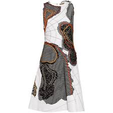 abstract pattern sleeveless dress bottega veneta abstract appliqué sleeveless dress 4 200 liked