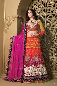 lancha dress buy weding special special multicolor net lehenga multicolor heavy
