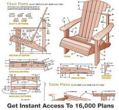 Free Woodworking Plans Outdoor Chairs by 16 000 Furniture Plans And Wood Furniture Plans And Outdoor