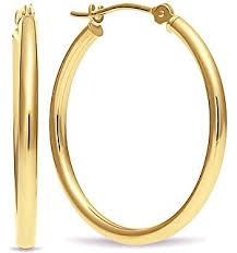 gold hoops earrings 14k white gold 1 inch hoop earrings jewelry