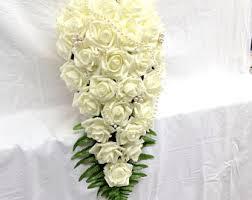 Bouquet For Wedding Cream White Silk Flower Bouquet For Bridesmaids Flower