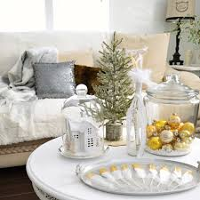 White Christmas Room Decorations by Vintage Gold Cottage Christmas Living Room Fox Hollow Cottage