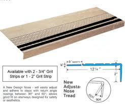 rubber stair treads with grit strip all stair treads com