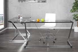 bureau verre angle bureau d angle en verre mobilier de bureau eyebuy