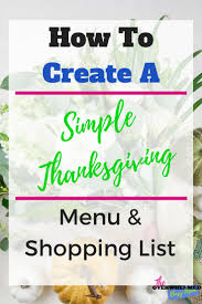 how to create a simple thanksgiving menu and shopping system the