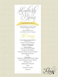 wedding programs sles printable diy wedding reception programs by littlemagiccards