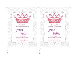 princess invitation templates invitation template