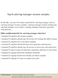Catering Job Description For Resume Catering Resume Template