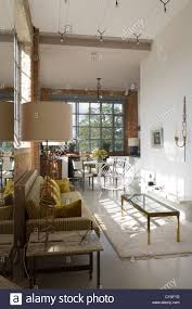 Living Spaces Coffee Table by Open Plan Living Space In Warehouse Conversion With Crittal