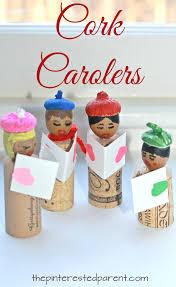 acorn and cork caroler craft christmas and winter arts and crafts