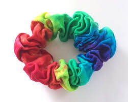 hair scrunchie tie dye scrunchie cotton rainbow hair scrunchie tie dye hair
