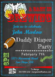 daddy diaper party invitations new selections fall 2017
