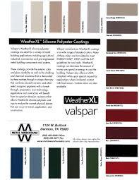 Valspar Colour Chart Panels Metal Warehouse Inc