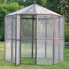 heat l for bird aviary lazymoon 93 large walk in hexagonal bird aviary cage birds pets