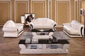 Luxury Leather Sofa Set Divani Casa Suzanne Classic Cream Leather Sofa Set Italian