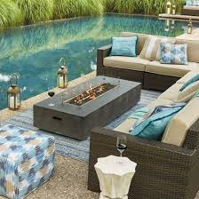 Fire Patio Table by Fayette Linear Fire Table Frontgate