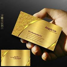 20 creative and unique golden business cards designs for