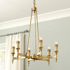 Aged Brass Chandelier 6 Light Round Chandelier In Brass