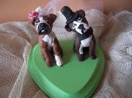 custom made cakes custom made dog wedding cake toppers and groom boxer dogs