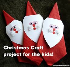 craft tutorial cute father christmas napkin rings