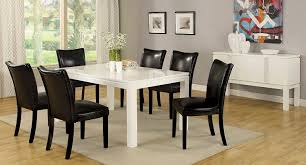 White Lacquer Dining Table by Amazon Com Furniture Of America Basic Modern Rectangular High