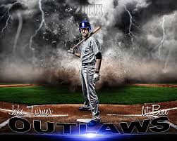 sports poster photo template baseball destruction sports