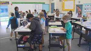 Individual Student Desks Vallecito Elementary In Northern California Brings Standing