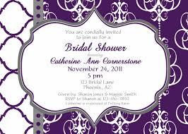 Bridal Invitation Cards Purple Bridal Shower Invitations Purple Lace Bridal Shower