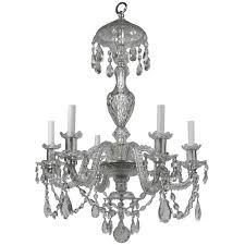 Elegant Lighting Chandelier Georgian Style Cut Crystal Six Light Chandelier By E F Caldwell