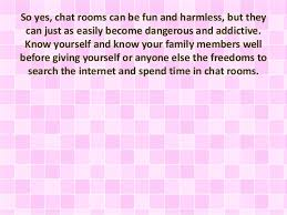 The Good And Bad Of Chat Rooms - Family chat rooms
