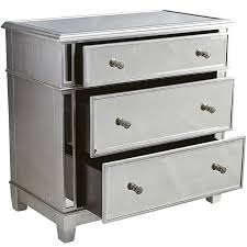 Hayworth Mirrored Bedroom Furniture Collection Hayworth Mirrored Silver 3 Drawer Dresser Pier 1 Imports