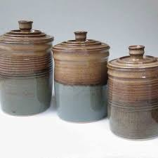 Pottery Kitchen Canisters 28 Brown Canister Sets Kitchen Large Canister Set Of 3