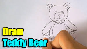 teddy bear writing paper how to draw teddy bear youtube