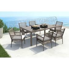 coronado rectangular dining table zuo coronado cocoa rectangular patio dining table 703821 the home