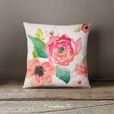 floral dreams throw pillow window seats bedroom living room