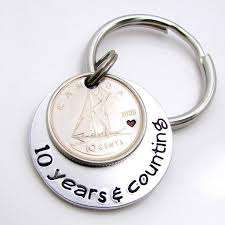 traditional 10th anniversary gift new limited edition 10th anniversary years counting keychain