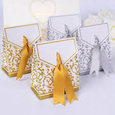 gold favor bags wedding favour favor sweet cake gift candy boxes bags anniversary