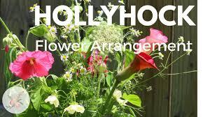 Hollyhock Flowers Hollyhock Flower Arrangement Ornamental Cut Flower Gardening