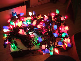 vintage christmas lights these are the large lights heavy glass all the colors of the