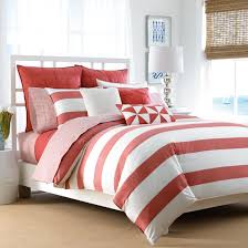 Pink Striped Comforter Bedroom Coral Bedding Sets Queen Coral Bedding King Coral