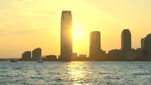 New Jersey travel videos images Sunset new jersey 30 hudson street skyscrapers footage nyc jpg