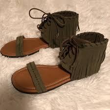 new minnetonka fringe gladiator sandals mercari buy u0026 sell